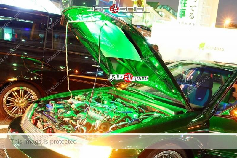 HONDA Accord wagon metallic green with beautiful green lighting up and audio system (4)