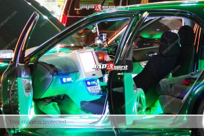 HONDA Accord wagon metallic green with beautiful green lighting up and audio system (1)