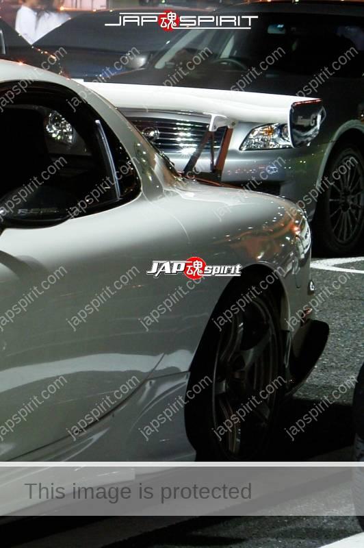 MAZDA RX7 FD Spokon style white and carbon bonnet RE Amemiya aero (1)