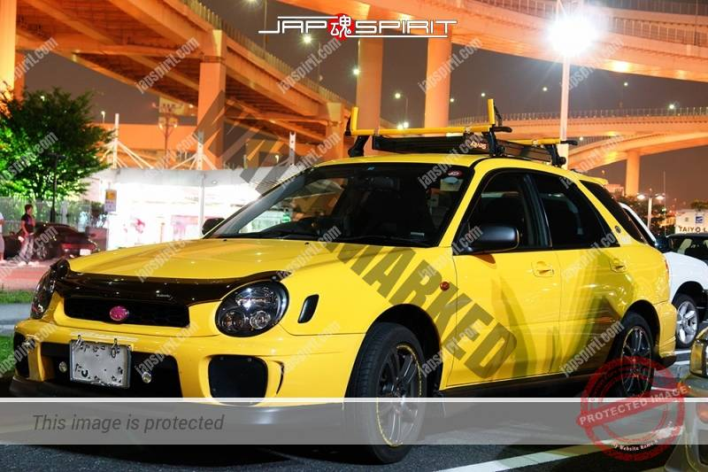 SUBARU Impreza 2nd facelift wagon yellow front cover (2)