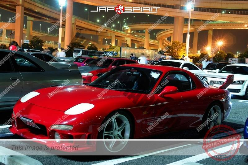 MAZDA RX7 FD Spokon style Red body with white wheel and head light cover (2)