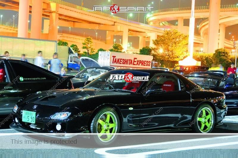 MAZDA RX7 FD Spokon style black color wingless and carbon bonnet (2)