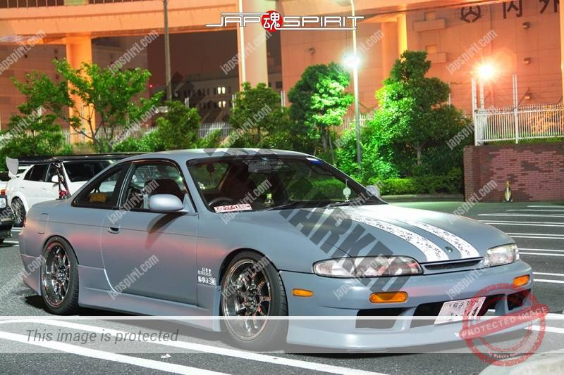 NISSAN Silvia S14 Street drift style matte gray color with big GT wing and large cutting seal (2)