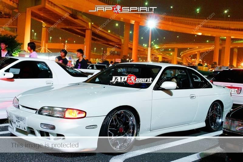 NISSAN Silvia S14 Spokon style white body chrome wheel (2)