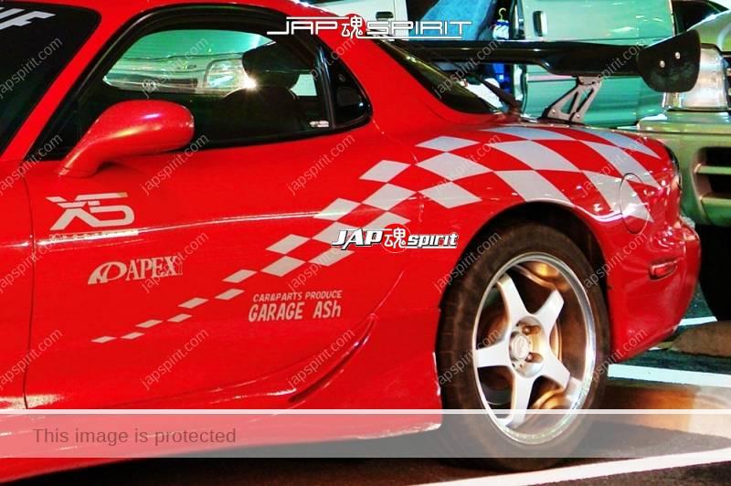 MAZDA RX7 FD spokon style red body vinylgraphic by Garage ASH (1)