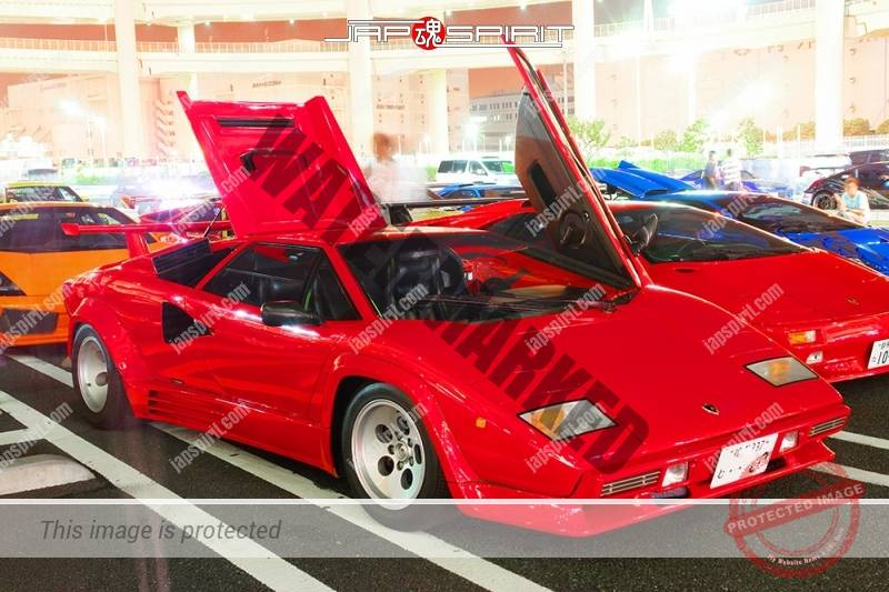 LAMBORGHINI Countach LP500 Red color super car with Diablo (3)