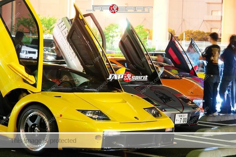 LAMBORGHINI Diablo Super car, Blue Silver and Yellow (1)