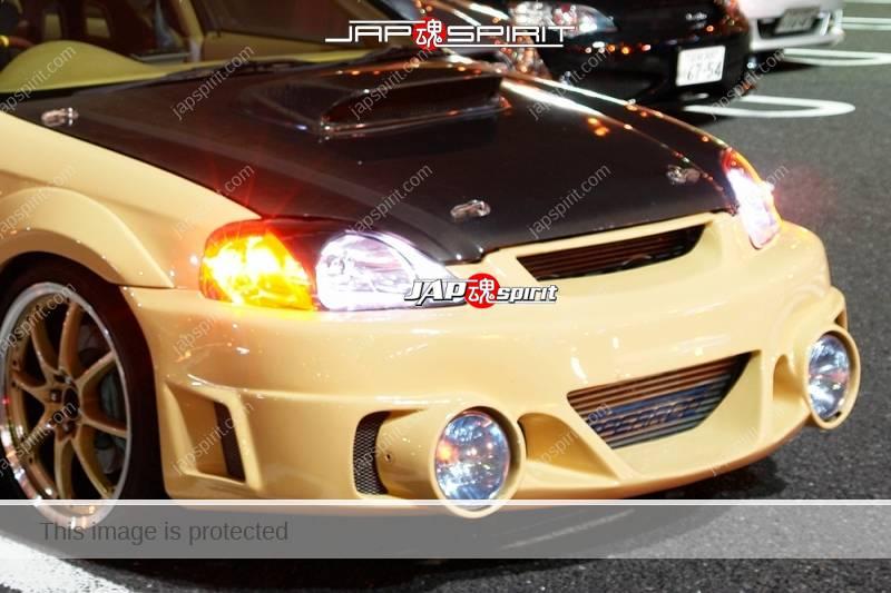 HONDA Civic 6th EK Ferio Spokon style air duct bonnet fog lamp bumper (1)