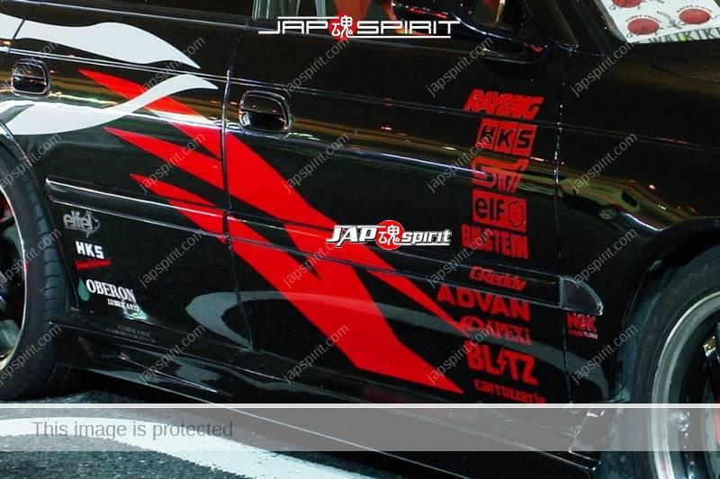 SUBARU Legacy Spokon style black color vinylgraphic (1)