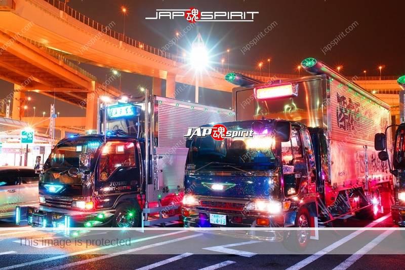 """ISUZU Elf art truck """"Joshu kankou"""" at Daikoku PA (2)"""