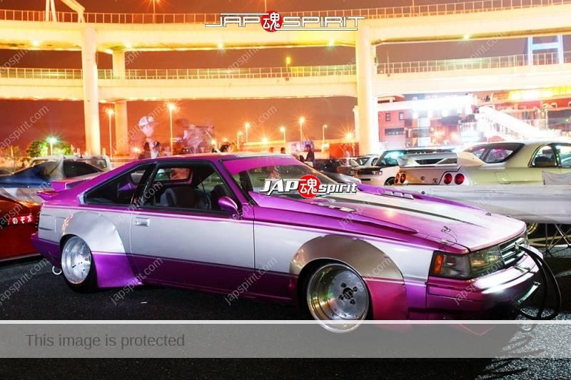 Photo of Toyota Celica XX (Celica Supra Mark I) Zokusha Purple & silver color team Mito racing
