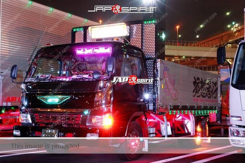 """MITUSBISHI FUSO Canter Art truck """"Aijinmaru"""" flat body at Daikoku PA (2)"""