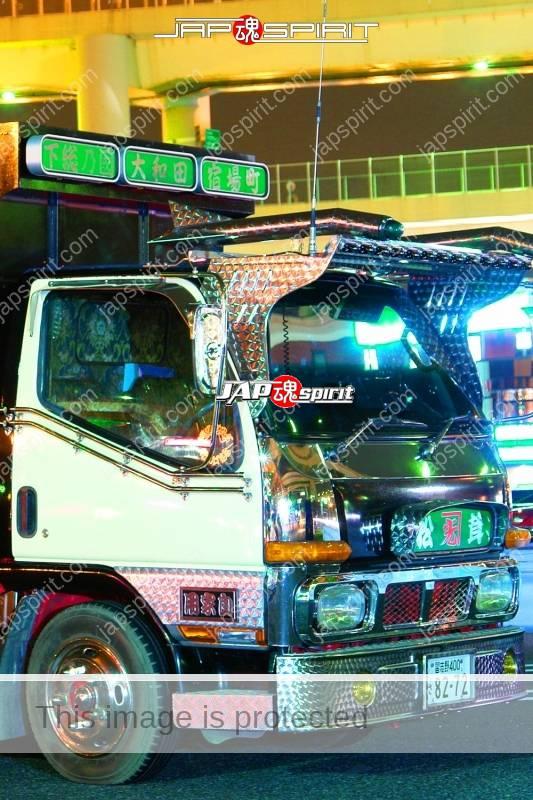 "MITSUBISHI Canter art truck style dump type ""Matsutake"" at Daikoku PA (1)"