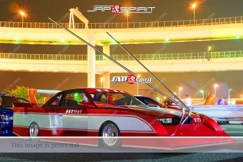 NISSAN Silvia S12 Zokusha Silhouette Ultraman custom long front Takeyari muffler Ultraman car (3)