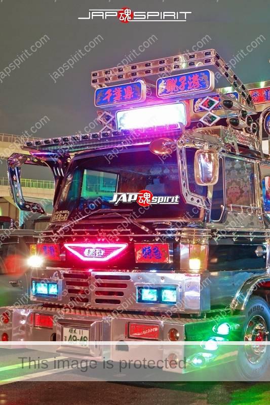 HINO Ranger art truck, team Lets GO at Daikoku PA (1)