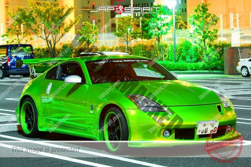 NISSAN Fairlady (Z car) 5th Z33 spokon style lime green color with same color wheel (2)