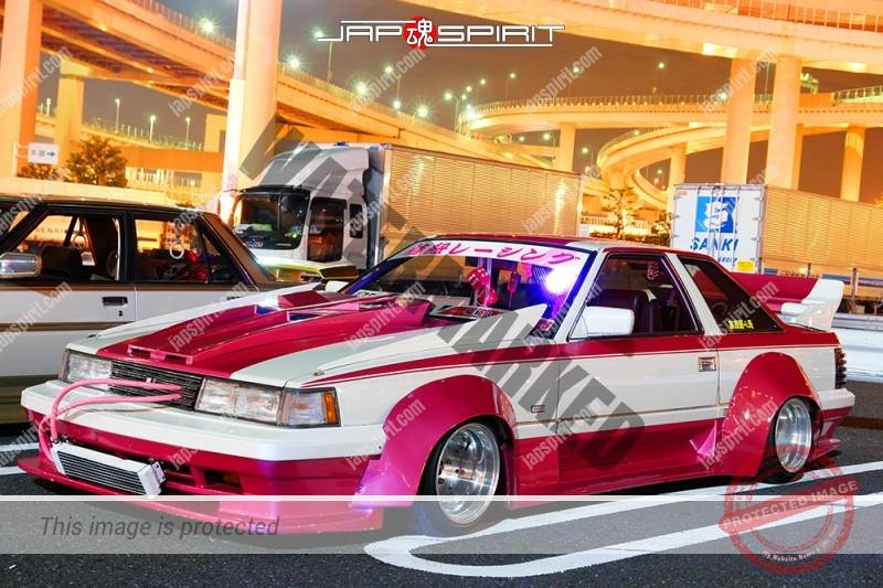 Photo of TOYOTA Soara Z10 Zokusha gundam style bonnet pink & white color team Ribbon racing