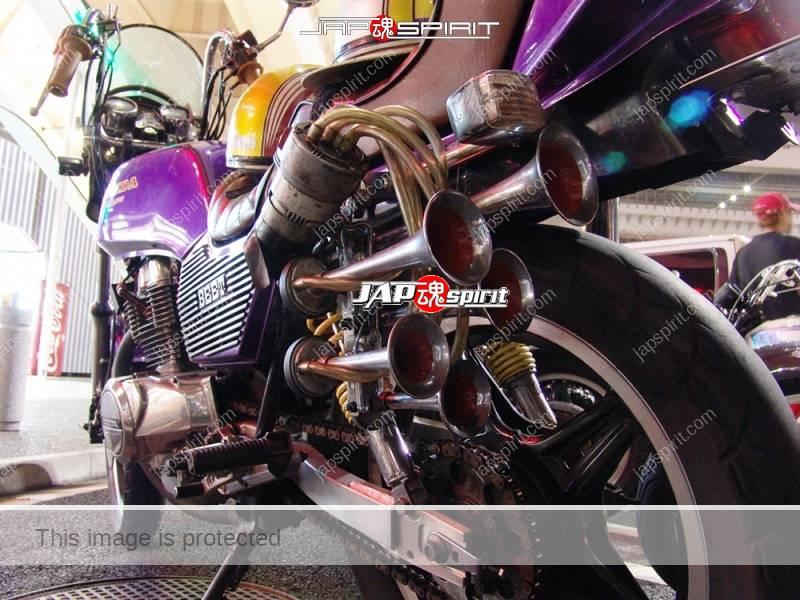 HONDA CB400N hawk ⅢKyushakai mongolian wind screen shibori handle air horn 1