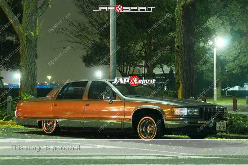 Photo of Cadillac Fleetwood 2nd lowrider style at Minatomirai street