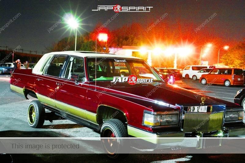 Photo of Cadillac Fleetwood lowrider style brown color at Moriya PA