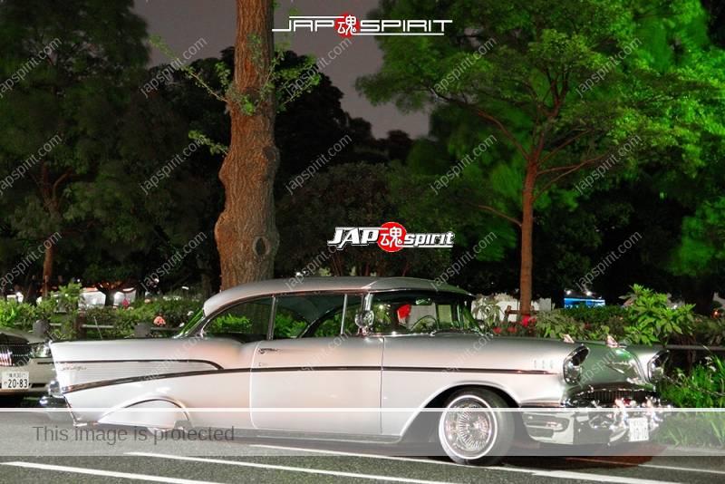 Photo of Chevrolet Bel Air Hardtop Coupe 1957 lowrider at Minatomirai Yamashita park