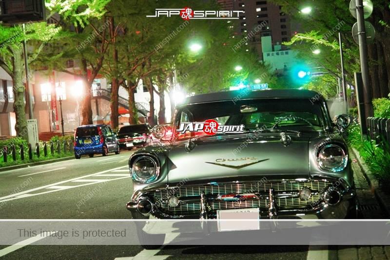 Chevrolet Bel Air Hardtop Coupe 1957 lowrider at Minatomirai Yamashita park 2