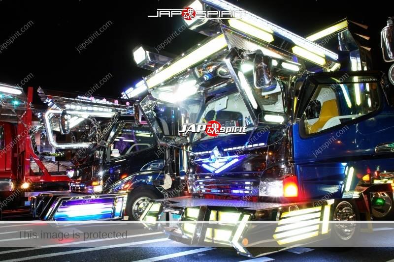 Dekotora art trucks light up at Daikoku Parking 2