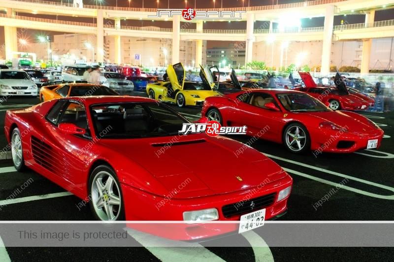Ferrari 512TR & 360modena red color at Daikoku PA 1