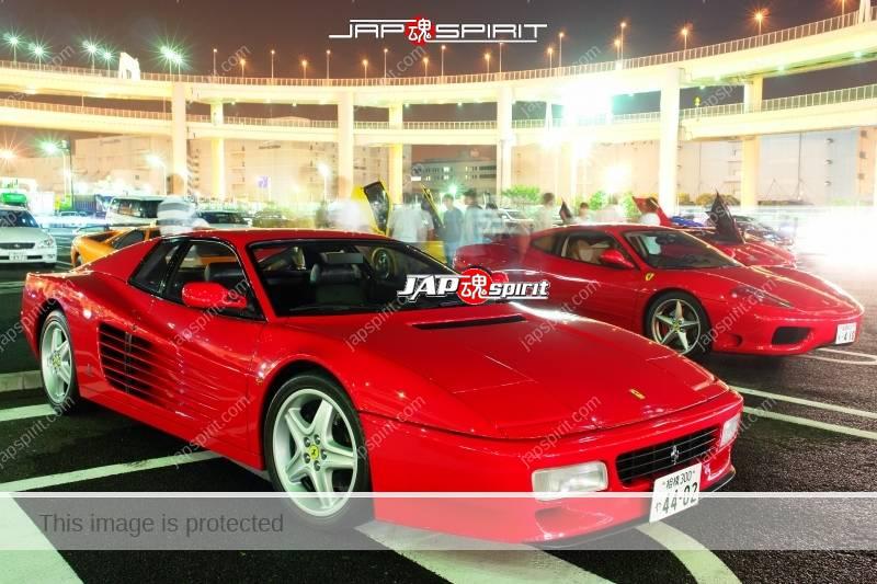Ferrari 512TR & 360modena red color at Daikoku PA 2