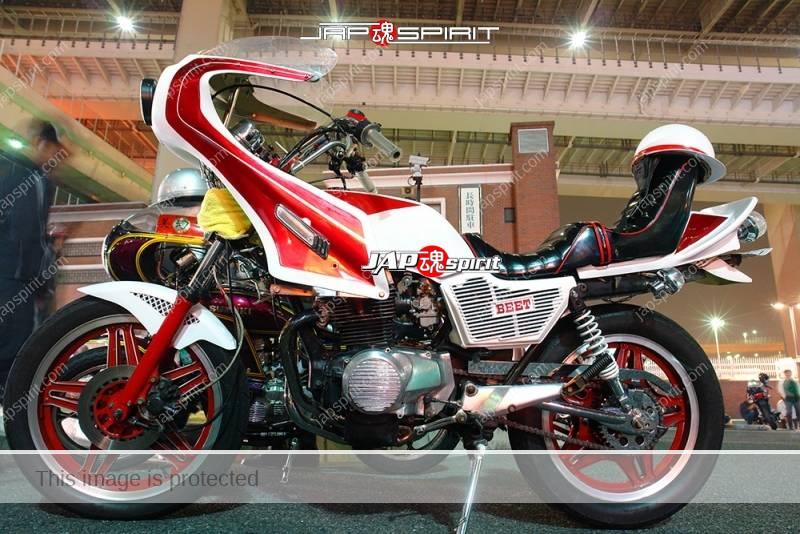 HONDA CB400N Hawk III Kyushakai white & red color rocket cowl & sandan sheet 1