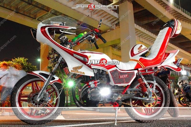 HONDA CB400N Hawk III rocket cowl sanda sheet beautiful white & red color tsuppari tail 1