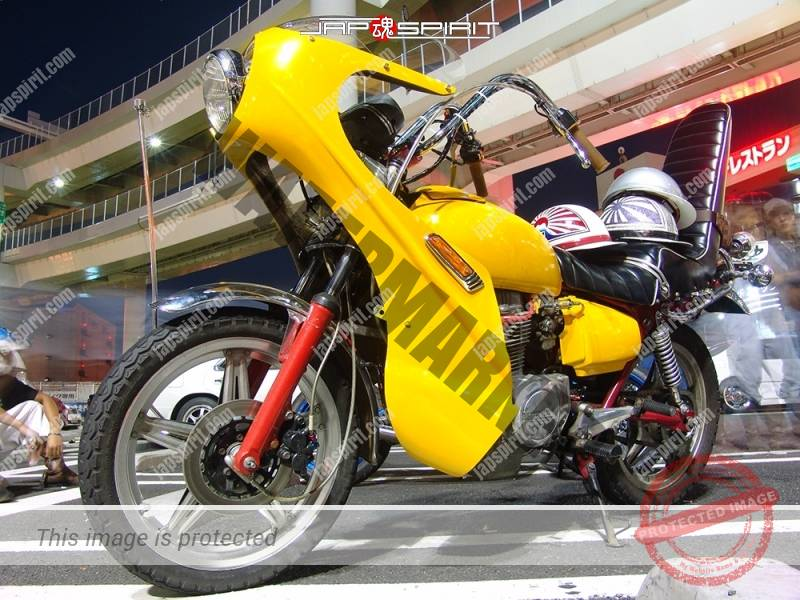 HONDA CB400T HAWK II zokusha style yellow color 1