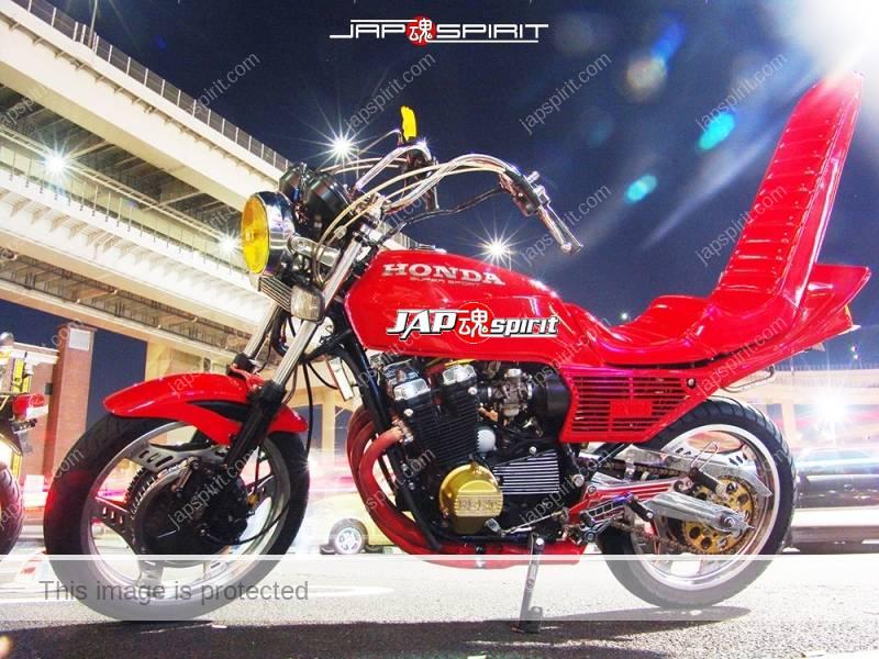Photo of HONDA CBX400F Kyushakai red color sandan sheet at Daikoku PA
