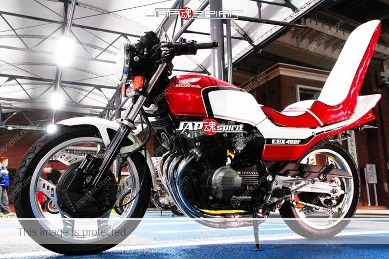 Photo of HONDA CBX400F Kyushakai tsuppari tail sandan sheet red and white color