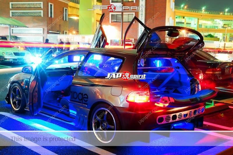 HONDA Civic 5th EG black color sound system and lighting 1