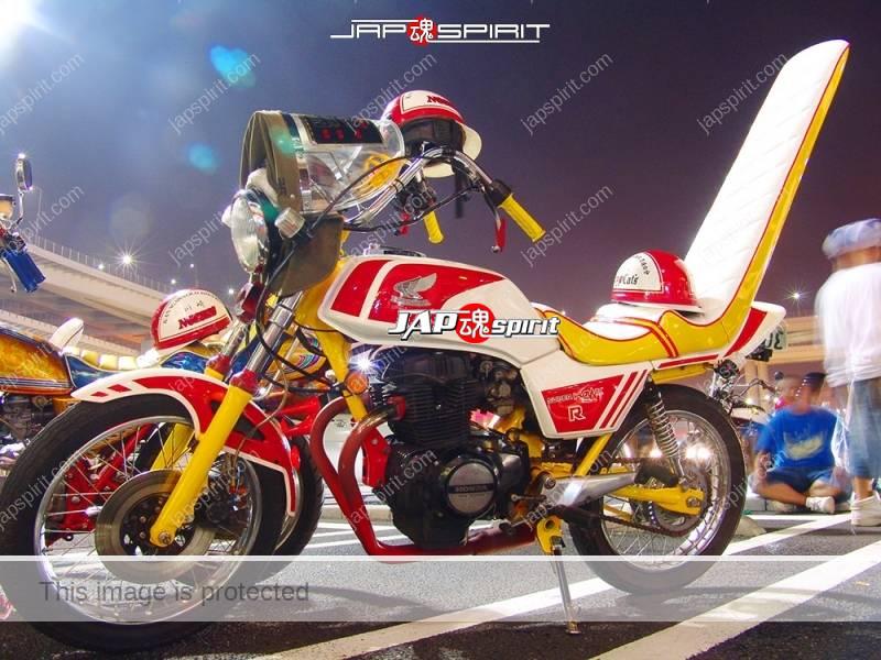 Photo of HONDA Super Hawk R Kyushakai Sandan sheet shibori handle Monglian screen