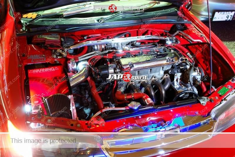 Honda accord CD Coupe CS1 Supokon Scissor door Red color (Engine room) 2