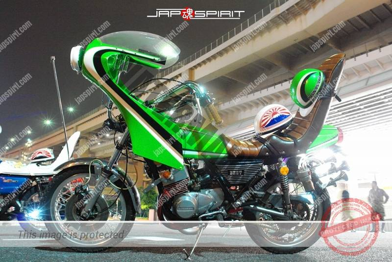Photo of KAWASAKI Z400FX Kyushakai light green color Rocket cowl sandan sheet