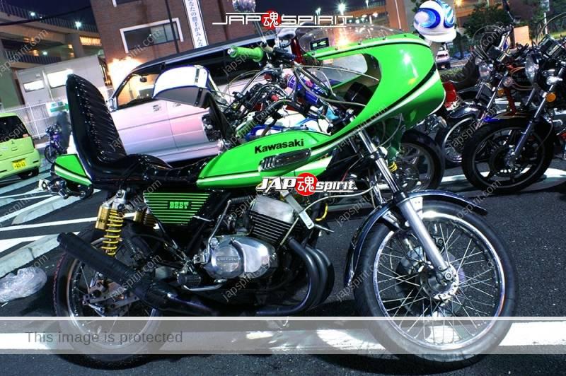 Kawasaki KH400 Kyushakai light green rocket cowl sandan sheet 1