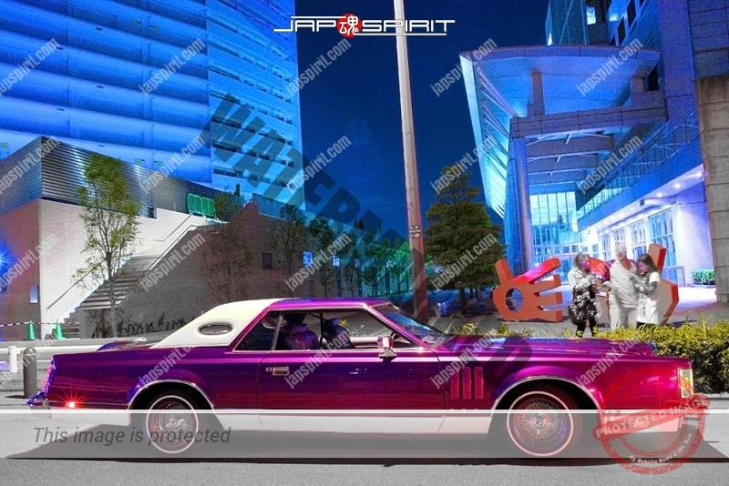 Lincoln Continental Mark V Purple Color Lowrider At Minatomirai