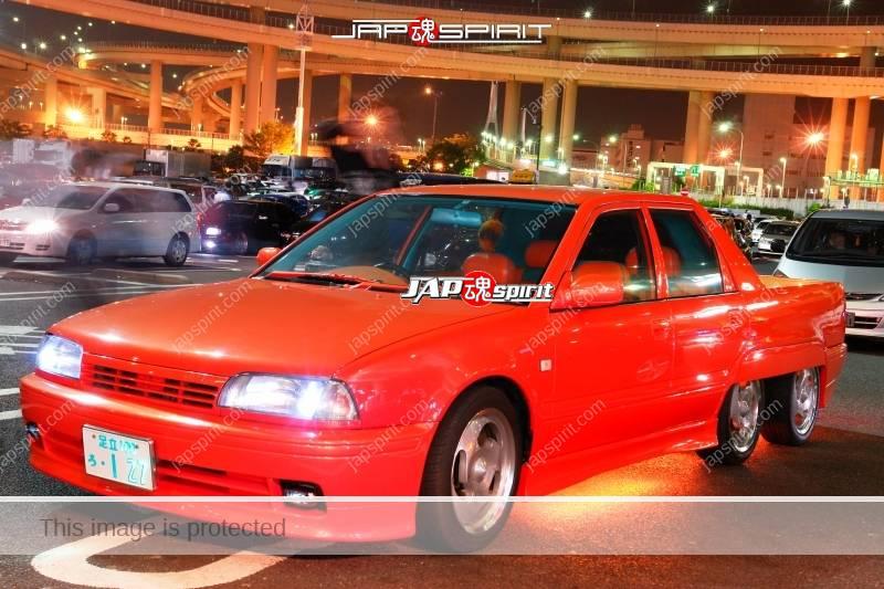 Nissan Avenir 6 wheel orange color custom with orange under lighting 2
