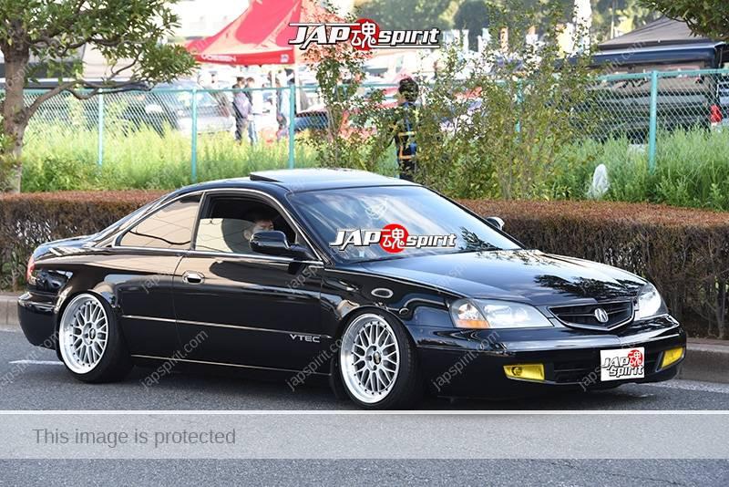 Photo of Stancenation 2016 Acura CL YA4 hellaflush USDM style tsuraichi black body at odaiba