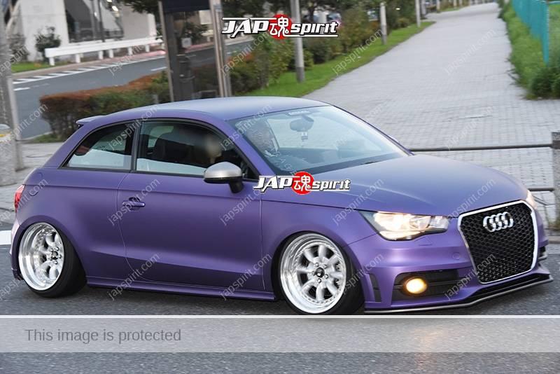 Photo of Stancenation 2016 Audi A1 hellaflush mat purple body silver wheel at odaiba