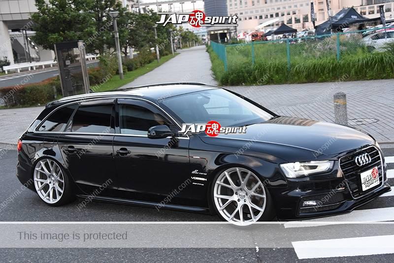 Stancenation 2016 Audi A4 Avant hellaflush black body at odaiba - JAP SPIRIT