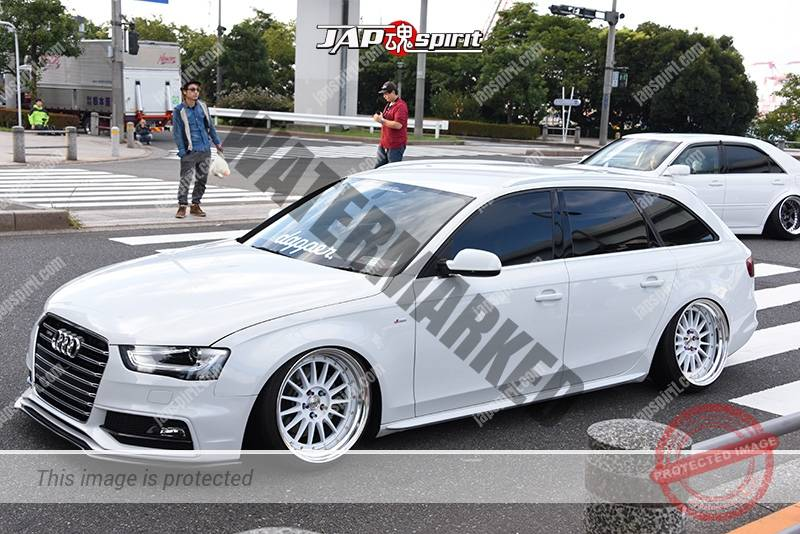 Photo of Stancenation 2016 Audi A4 Avant wagon hellaflush team dropper white body & wheel at odaiba