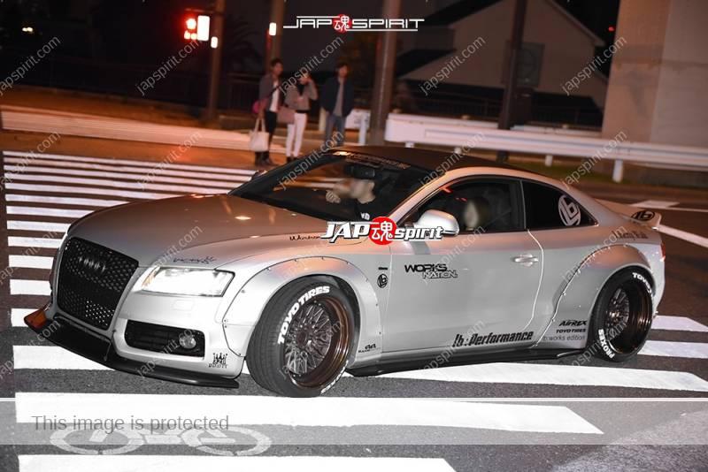 Photo of Stancenation 2016 Audi A5 LB works fender silver body hellaflush