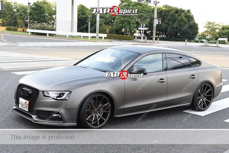 Stancenation 2016 Audi A7 Sports back hellaflush mat grey at odaiba 1