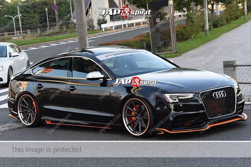 Photo of Stancenation 2016 Audi A7 hellaflush black body at odaiba