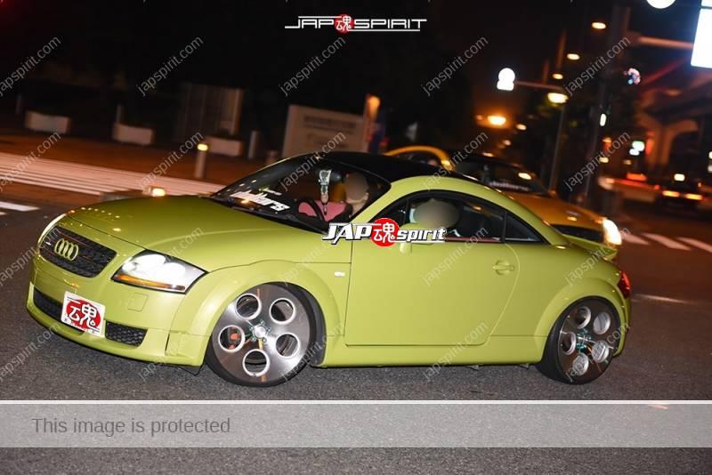 Photo of Stancenation 2016 Audi TT Mk1 special wheel light green color belong to dollars at Odaiba