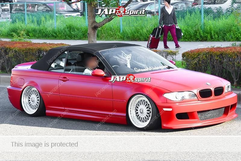 Photo of Stancenation 2016 BMW E46 convertible hellaflush red body tsurauchi at odaiba